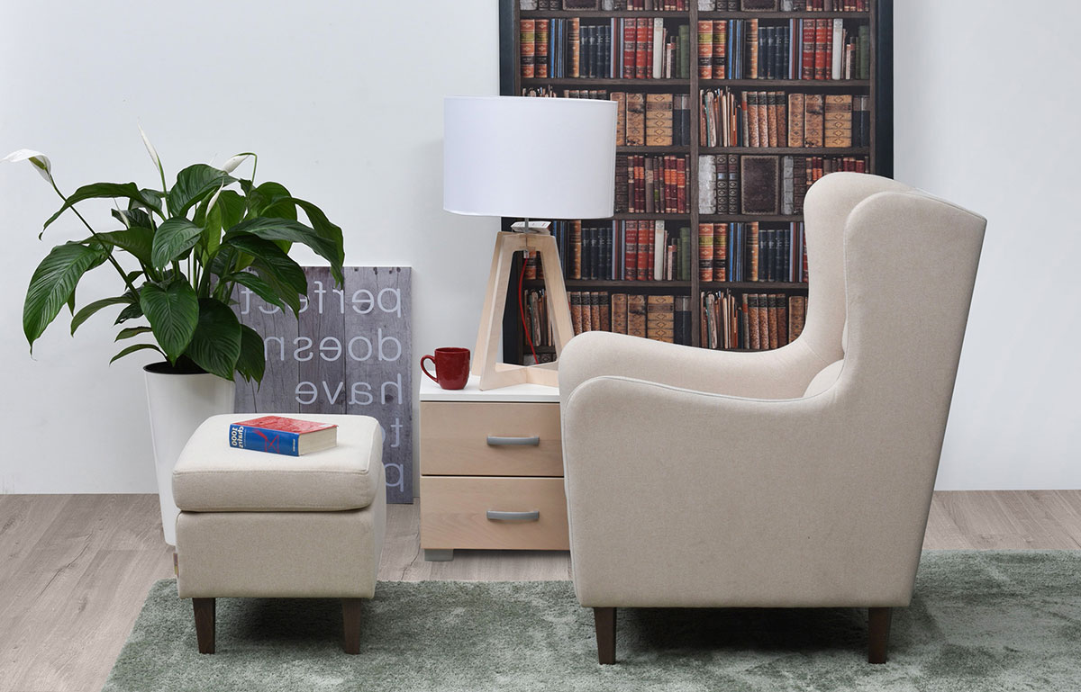 Armchair and Tabouret Grazia